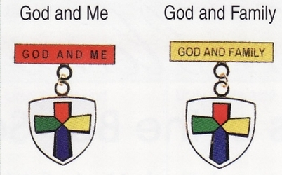 God and Me and God and Family medals